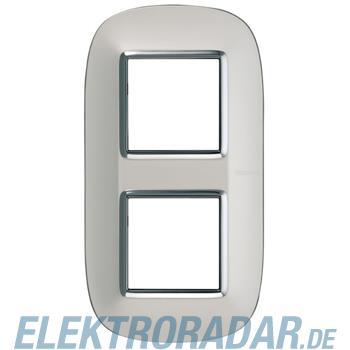 Legrand HB4802/2SA Rahmen elliptisch 2x2 Module Silber, matt