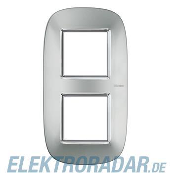 Legrand HB4802/2XC Rahmen elliptisch 2x2 Module Aluminium