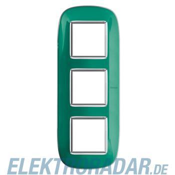 Legrand HB4802/3DV Rahmen elliptisch 3x2 Module Grün