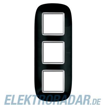 Legrand HB4802/3NR Rahmen elliptisch 3x2 Module Tiefschwarz