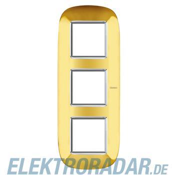 Legrand HB4802/3OR Rahmen elliptisch 3x2 Module Gold, glänzend