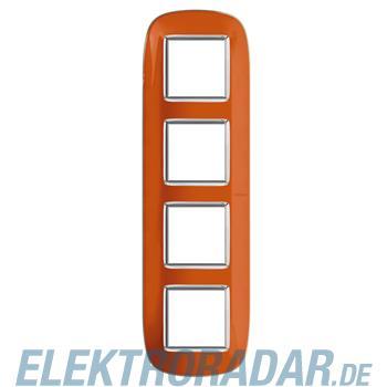 Legrand HB4802/4DR Rahmen elliptisch 4x2 Module Orange