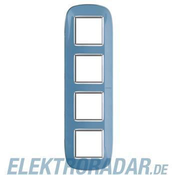 Legrand HB4802/4DZ Rahmen elliptisch 4x2 Module Blau