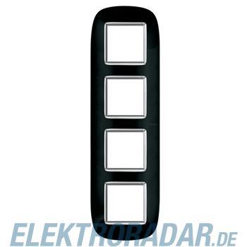Legrand HB4802/4NR Rahmen elliptisch 4x2 Module Tiefschwarz