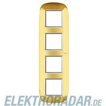 Legrand HB4802/4OR Rahmen elliptisch 4x2 Module Gold, glänzend