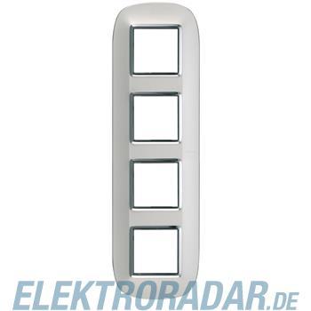 Legrand HB4802/4SA Rahmen elliptisch 4x2 Module Silber, matt