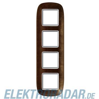Legrand HB4802/4SLS Rahmen elliptisch 4x2 Module Kaffee