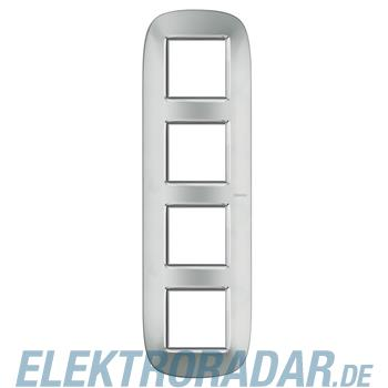Legrand HB4802/4XC Rahmen elliptisch 4x2 Module Aluminium