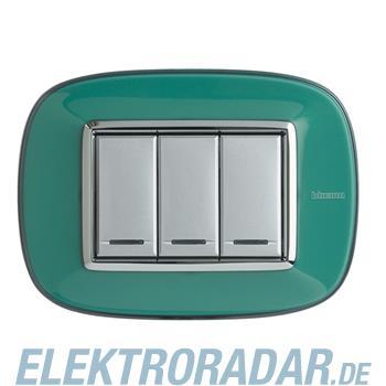 Legrand HB4803DV Rahmen elliptisch 3 Module Kompaktinstallation Grü