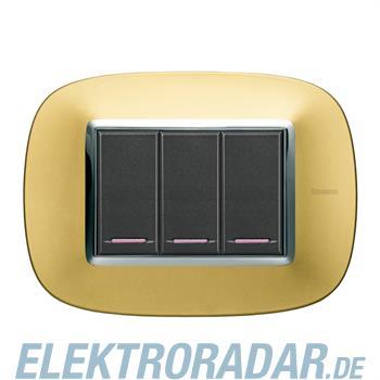 Legrand HB4803OS Rahmen elliptisch 3 Module Kompaktinstallation Gol