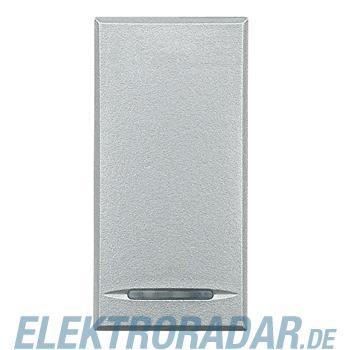 Legrand HC4055 Taster 1-polig Schließer 10A 250V AC 1-modulig Alu