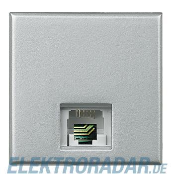Legrand HC4258/11D Telefondose RJ11 Cat. 3 K10 2-modulig Aluminium