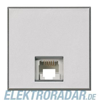 Legrand HC4258/12D Telefondose RJ12 Cat. 3 K10 2-modulig Aluminium