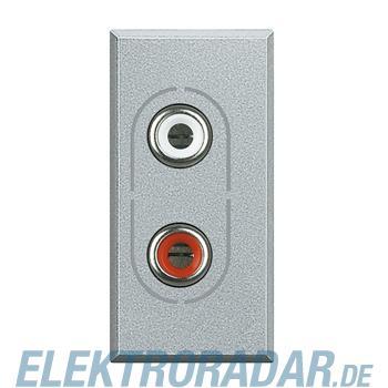 Legrand HC4281 Audio-Anschlussdose 2x RCA (Cinch) Aluminium