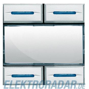Legrand HC4680 Szenarientaster zum Abrufen von 4 Szenen, Aluminiu