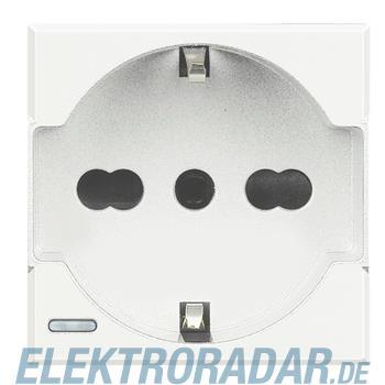 Legrand HD4140A16W Steckdose italienisch 2-polig+E 10/16A 250V AC, St
