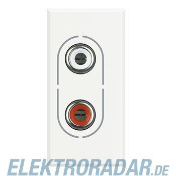 Legrand HD4281 Audio-Anschlussdose 2x RCA (Cinch) White