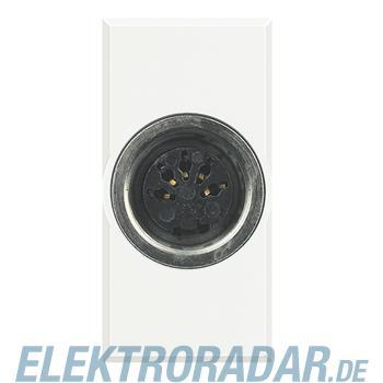 Legrand HD4292 Steckdose 5-pol DIN 180° Lötanschluss 1-modulig Wh