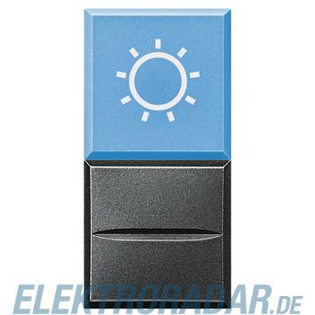 "Legrand HS4038LA/12 ""Axialtaster mit Beleuchtung blau Symbol""""LAMPE"""""