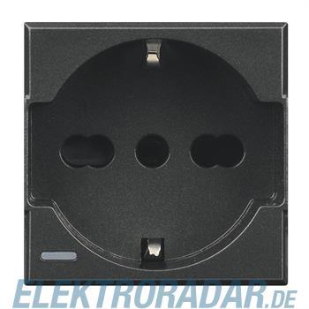 Legrand HS4140/16W Steckdose italienisch 2-polig+E 10/16A 250V AC, St