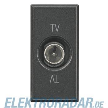Legrand HS4202PT TV-End-/Einzel-/Durchgangsdose, 9,5 mm Durchmesser