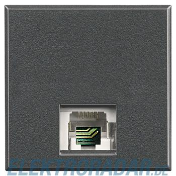 Legrand HS4258/11D Telefondose RJ11 Cat. 3 K10 2-modulig Anthrazit