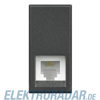 Legrand HS4258/11N Telefondose RJ11 Cat. 3 K10 1-modulig Anthrazit