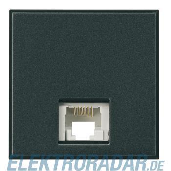 Legrand HS4258/12D Telefondose RJ12 Cat. 3 K10 2-modulig Anthrazit