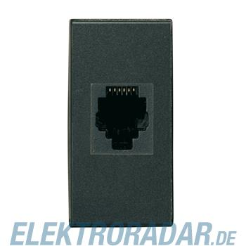 Legrand HS4262/12 Telefondose RJ12 Cat. 3 AMP Barrel 1-modulig Anthr