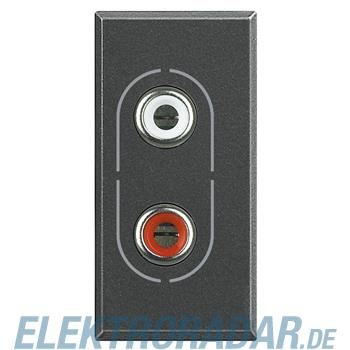 Legrand HS4281 Audio-Anschlussdose 2x RCA (Cinch) Anthrazit