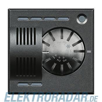 Legrand HS4692FAN Raumthermostat für Fan-Coils mit Stellrad Anthrazi