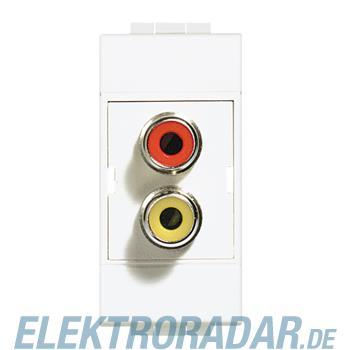Legrand N4269R CHINCH-BUCHSE 2FACH ROT GELB