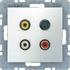 Berker Steckdose 3xCinch/S-Video 3315321909