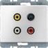 Berker Steckdose 3xCinch/S-Video 3315320002