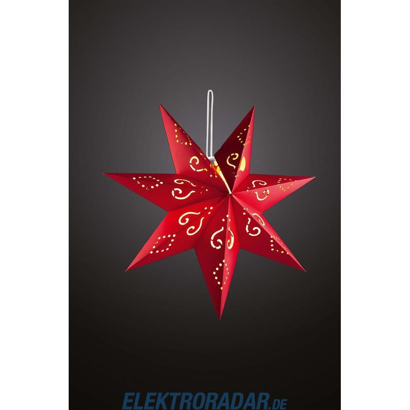Hellum LED-Papierstern rot 60cm 521795