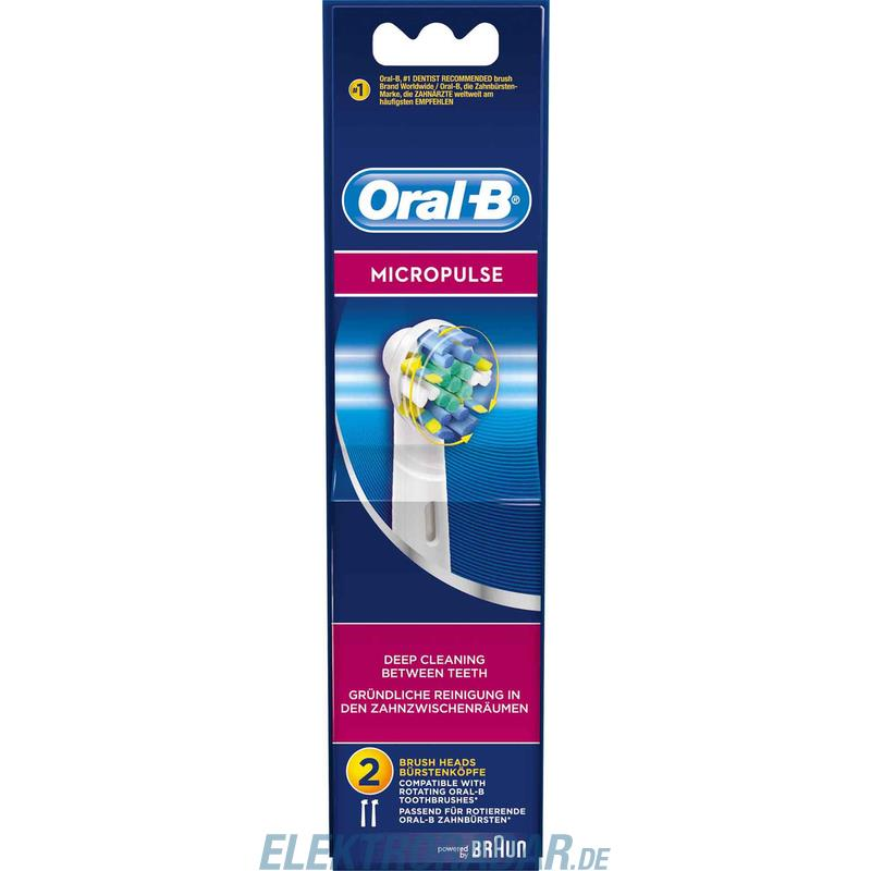 procter gamble braun oral b mundpflege zubeh r eb micropulse 2er. Black Bedroom Furniture Sets. Home Design Ideas