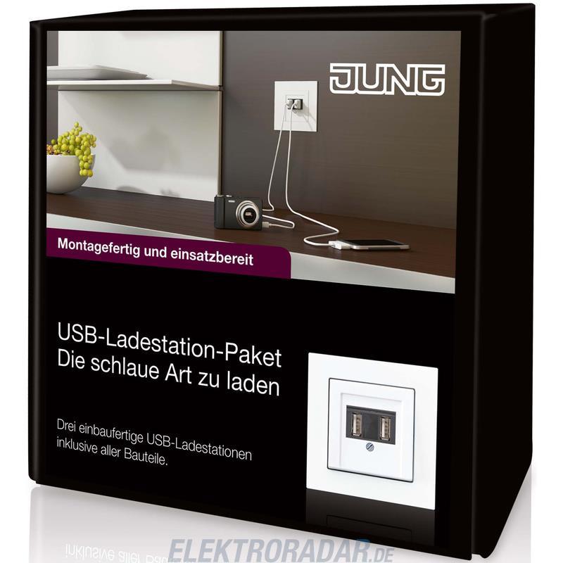 jung usb ladestation paket usb paket. Black Bedroom Furniture Sets. Home Design Ideas