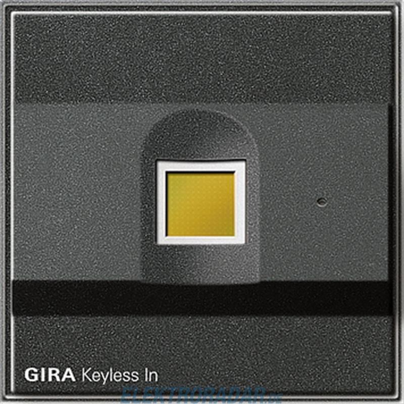 gira fingerprint anth 260767. Black Bedroom Furniture Sets. Home Design Ideas