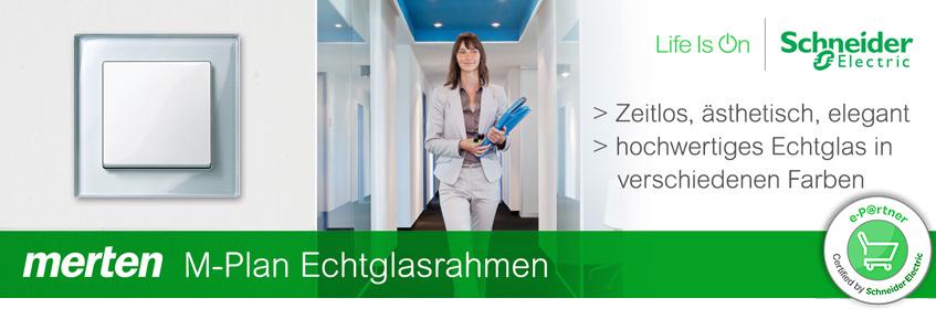 Banner Merten Echtglas | Elektroradar.de