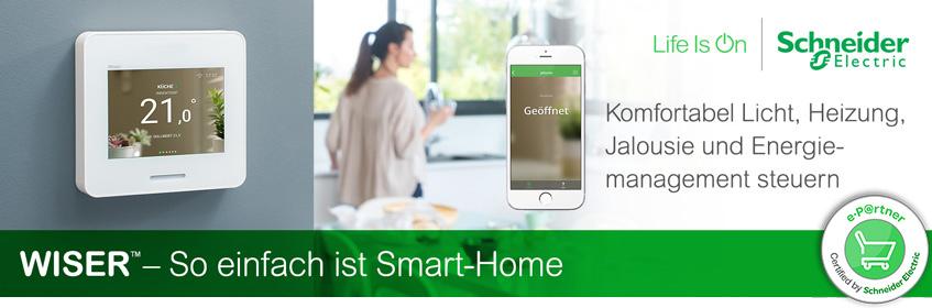 Banner Merten Wiser Smart Home | Elektroradar.de