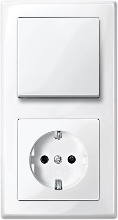 Merten M-Smart Set: Schalter-Steckdosen-Kombination